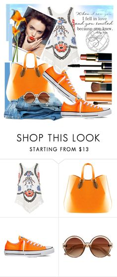 """""""Converse"""" by thedistinctiveme ❤ liked on Polyvore featuring River Island, Disney, Aevha London, Converse, Summer and converse"""