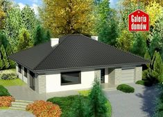 Projekt domu: Dom przy Słonecznej 5 bis Cottage Style House Plans, Small House Plans, Future House, Gazebo, Shed, Outdoor Structures, House Design, How To Plan, Gallery