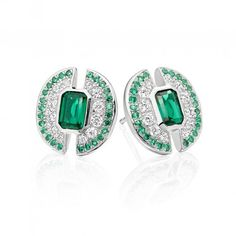 Strong  Bold  Empowered - Emerald of Light #Earrings http://shardsoflondon.com/ #Jewellery #Jewelry #Emeralds