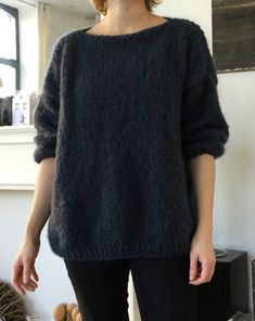 Kostenloses T-Shirt Emilie Pullover patterns de tricot de tejer di maglieria modelleri Cardigan Pattern, Knit Cardigan, Le Blog Du Goumy, Big Knits, Budget Planer, Angora, Mohair Sweater, Knitting For Beginners, Knitted Blankets