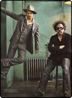 Johnny Depp & Tim Burton. Both INFPs- we are all a fun, disturbed, bunch, aren't we?