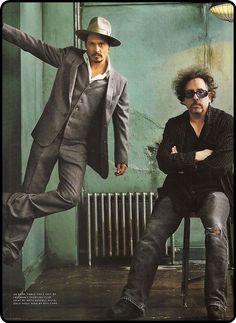 Johnny Depp & Tim Burton.
