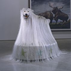 Simen Johan (b. 1973), sculpture   [I don't know the title of this piece, but in light of yesterday's finale of the 2013 Westminster Dog Show, we could call it 'Beast in Show'..]