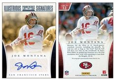 Joe Montana 2012 Panini Prominence 12 Illustrious Signatures Autograph (#23/30)