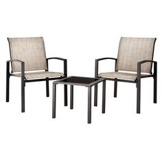 Target Home™ Gilmore 3-Piece Sling Patio Chat Furniture Set.  I want these for our small balcony!