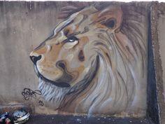 Graffiti, Street art, Lion, Bonet