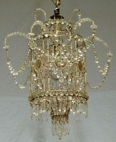 Bird cage ❤•♥.•:*´¨`*:•♥•❤ chandelier
