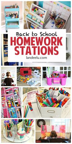 Homework can be a drag, lucky for you we found ways to make it fun. Here are some DIY back to school homework stations...