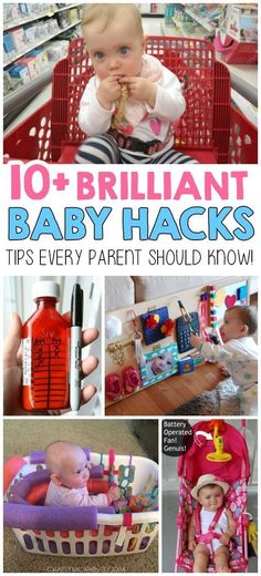 10+ Brilliant Baby Hacks! OMG! I love these! I wish I would have known these with my first!! #ParentingHacks