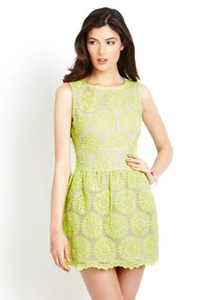 GRACIA Sleeveless Fit-and-Flare with Lace. How CUTE!