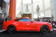 Who needs a red carpet when you arrive in Race Red?  2015 Mustang GT 5.0!