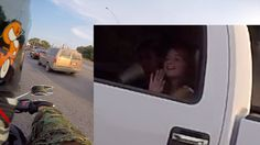 Guy Stares at GIRLS in his GHILLIE SUIT while on a MOTORCYCLE