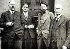 Expats living in Paris.....Ford Madox Ford, James Joyce, Ezra Pound, John Quinn Paris 1920s.
