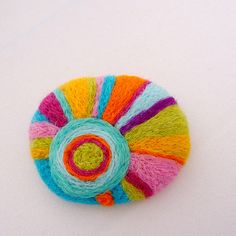 Autumn Sun felted brooch by Gypsy Colours