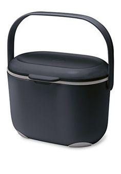 addis 25 litre kitchen compost caddy blackgrey