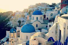 Oia at Sunset Greece Santorini Oia Iconic Greece by CestLaVieArt