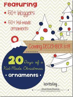 20 Days of a Kid-Made Christmas: Ornaments | @mamamissblog #kidchristmas #holidaycraftsforkids #kidornaments