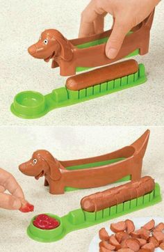HaHa..what a crazy cool invention! The Hot Dog Cutter! For more info check out www.archieli.com <3