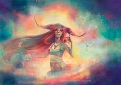 © Mercedes Palacios   http://www.mercedespalacios.com/   #fantasy #illustration #ilustracion #digital #pain #art #ilustracion #fantástica