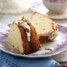Low Carb Bundt Cake with Lemon Glaze via @lowcarbmaven