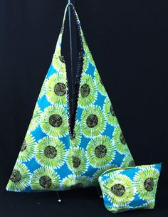 I love this print. Funky and fun for the season! $35.00 for both sack tote and cosmetic bag.