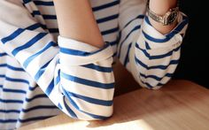 Breton stripes always Mode Chic, Mode Style, Parisienne Chic, Breton Stripes, Summer Stripes, Blue Stripes, Nautical Stripes, Inspiration Mode, Her Style