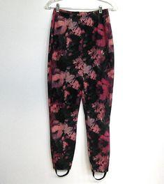 SOLD / #Vintage 1980 - 90s Floral Print / Stirrup Pants / Leggings by VelouriaVintage, $24.00