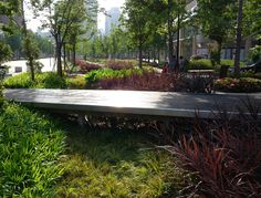 Gubei Pedestrian Promenade by SWA Group | vegetated swales