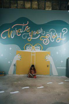 Love Letters Interactive Pop Up Art Museum Mural Wall Art, Mural Painting, Wall Paintings, Wall Drawing, Art Drawings, Interactive Walls, Pop Up Art, School Murals, Murals Street Art