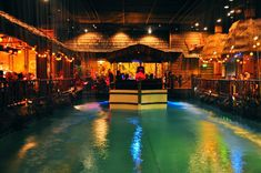 Tonga Room and Hurricane Bar.  Kid friendly food with indoor thunderstorms
