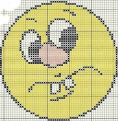 Emoticono Cross Stitch For Kids, Cross Stitch Charts, Cross Stitch Designs, Cross Stitch Patterns, Plastic Canvas Coasters, Plastic Canvas Crafts, Plastic Canvas Patterns, Cross Stitching, Cross Stitch Embroidery