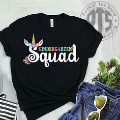 - Kindergarten Shirt - Ideas of Kindergarten Shirt - Kindergarten Teacher Shirts, Preschool Shirts, Teaching Shirts, In Kindergarten, Preschool Class, Team Shirts, Vinyl Shirts, Cute Shirts, School Spirit Shirts