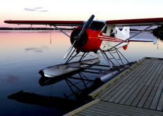 Float Plane. To be specific, a DeHavilland of Canada Beaver float plane - one of the finest bush planes ever to fly.