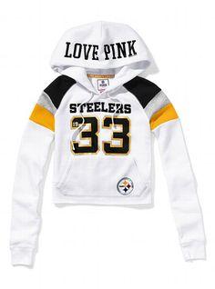Pittsburgh Steelers Shrunken Pullover Hoodie - Victoria's Secret PINK® - Victoria's Secret