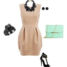 Neutral, Black, and Mint by morgangrandolfo on Polyvore