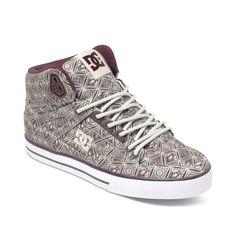 dcshoes, Women's Spartan WC SP High-Top Shoes, MAROON (mar)