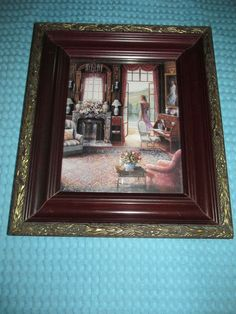 Vtg Ornate Home Interior Framed Antiqued Setting Wall Picture~BY John P. Picture Wall, Victorian, Antiques, Frame, Interior, Pictures, Vintage, Ebay, Home Decor