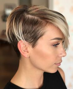 Side-Parted Bob With Side Undercut