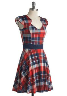 Plaid and Subtract Dress, #ModCloth