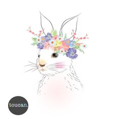 Bunny Flower Crown - Toucan