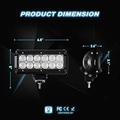Nilight NI06A-36w Flood 4PCS LED Work Light (Off Road LED Light Bar Super Bright for Jeep Cabin Boat SUV truck Car ATVs , 2 Years Warranty)