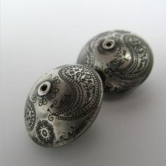 Artisan Sterling Silver Beads--Large Paisley.
