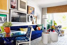 Don't be afraid of color! Check out this fabulous Miami apartment, courtesy of @mixandchic /BR