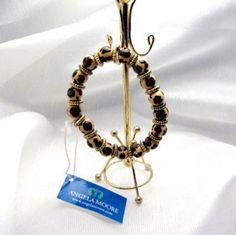 Designer Angela Moore hand painted bracelet at Redrosejewelry.com