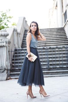 20 Chic Tulle Skirt Outfit Ideas | StyleCaster