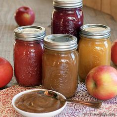 No sugar added applesauce. 4 different varieties! Fruit & Spice Applesauce Blends--slow cooker or stove top. No peeling, straining, or added sugar. Baby Food Recipes, Diet Recipes, Healthy Recipes, Dash Diet, Canning Recipes, Slow Cooker Recipes, Healthy Snacks, Salsa, Favorite Recipes