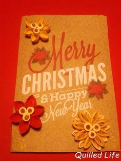 Quilled Life: Wesołych Świąt i Szczęśliwego Nowego Roku! #quilling #Christmas #Christmascard #happyholidays #handcraft #handmade #paperflowers #MerryChristmas