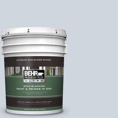 BEHR Premium Plus Ultra 5-gal. #560E-2 Cumberland Fog Semi-Gloss Enamel Exterior Paint