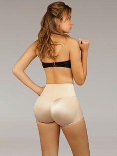 (http://www.orchardcorset.com/shapewear/vedette-203-latex-high-waisted-short-leg-push-up-panty-girdle/) #orchardcorset