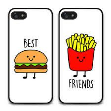 Resultado De Imagen Para Imagenes De Mejores Amigas Una Hamburguesa Y Papitas Fritas Bff Phone Cases Iphone Friends Phone Case Bff Iphone Cases